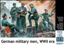 German military men, WWII era (Plastic model kit) 5 figures 1/35 MasterBox 35211
