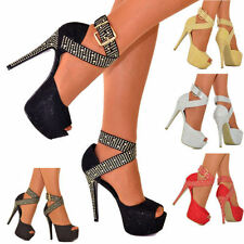 Stiletto Peep Toes Synthetic Heels for Women