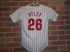 PHILADELPHIA PHILLIES CHASE UTLEY JERSEY YOUTH SMALL BY MAJESTIC