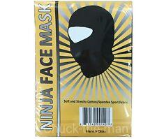 Balaclava Black spandex Ninja mask, face mask, ski mask,helmet liner