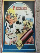 Peters Cartridge Company Advertising Poster, Peters Victor Shells