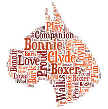 Personalised Boxer Face Dog Lovers Word Art Print Great Gift