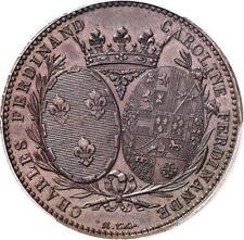 O2296 Rare Module 5 Francs Louis XVIII 1817 A Caroline Ferdinand duc Berry PCGS