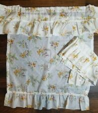 JC Penney ruffle Valance rod pocket Curtains Vintage Butterflies kitchen 32x37