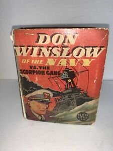 Vintage BETTER LITTLE BOOK Don Winslow of the Navy Vs. The Scorpion Gang 1938