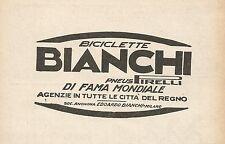 Z0185 Biciclette di fama mondiale BIANCHI - Pubblicità del 1928 - Advertising