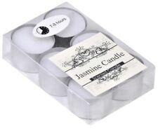 JASMINE 7-8 HOURS CANDLE TEA SCENTED AROMA PERFUME LIGHTS SEALED PACK 6pcs