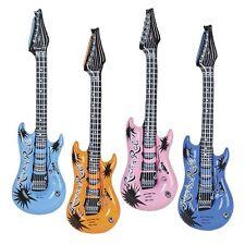 "Inflatable Guitars (12 Pack) 24"" Assorted Blow Up Guitars 1 Dozen"