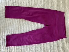 LULULEMON Wunder Under Crop Hi-Rise Purple magenta legging pants-10