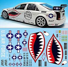 Sharkmouth U.S. Air Force Gumball 3000 Rallye Street Racing 1:24 Decal Abziehbil