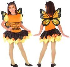 Déguisement Fille PAPILLON Orange 7/8/9 Ans Costume Enfant Animal NEUF
