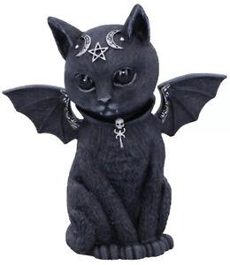 MALPUSS Winged Occult Cat Figurine 10cms BLACK CAT Nemesis Now UK SELLER