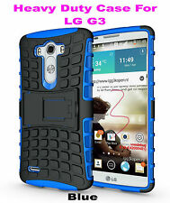Blue Strong Handyman TPU Hard Case Cover Stand for LG G3, Heavy Duty & Tough
