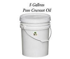 Pure All Natural Coconut Oil  5 Gallon Bucket Pail