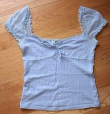 Moschino Cheap and Chic Women Ladies Blue Blouse Top Shirt Made in Italy. Size 8