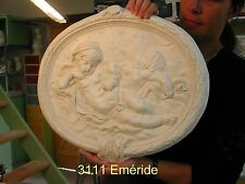 Bas relief ange angel cherub plaque 3111