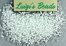 11/0 Round TOHO Japanese Glass Seed Beads #981- Crystal/Snow Lined 10 grams