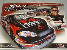 "2009 ROBERT RICHARDSON #23 ""SIGNED"" MAHINDRA TRACTORS NASCAR POSTCARD"