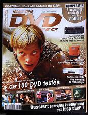 DVD MANIA n°28  du 10/2000; Mila Jovovich/ Hollow Man/ Inspecteur Harry/ Frs Tv