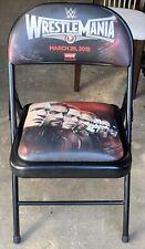 WWE WrestleMania 31 Ringside Chair 3/29/2015 Levi's Stadium Sting Debut Match