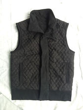 Club Monaco black Quilted vest S Ralph lauren Polo USA snow beach stadium p-wing
