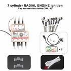 RCEXL 7 Cylinder Radial Engine Ignition CDI for NGK CM6 10MM 90 Degree w/ Sensor