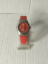 Seiko Arctura Kinetic RED Wrist Watch Mid Size 3m22 3m22-0D89 New