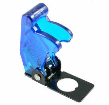 Blue Transparent Aircraft Missile Style Toggle Switch Flick Cover