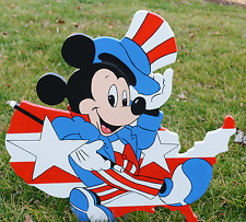 lawn stake Mickey Mouse 4th of July Independance day american flag yard artdecor