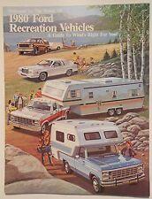 1980 Original Ford Recreation Vehicles Sales Brochure Thunderbird Bronco