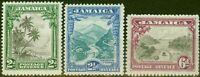 Jamaica 1932 set of 3 SG111-113 V.F Very Lightly Mtd Mint..