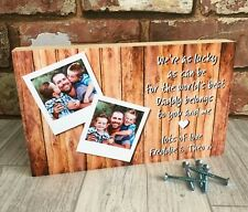 Father's Day Gift, Daddy Gift, Personalised Daddy Photo Block, Dad Photo Gift