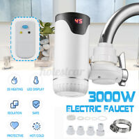 3000W Electric Hot Water Heater Faucet Tap LED Display Hot Water Kitchen