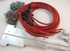 SB Chevy Polished Smooth Spark Plug Wire Loom W/ Red Taylor 8MM Plug Wire SBC