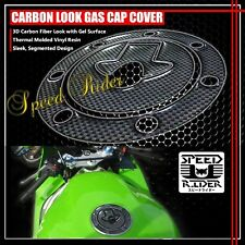 FOR NINJA 500R/ZX-6R/7R-11R CARBON FIBER LOOK GAS CAP FUEL LID COVER PROTECTION