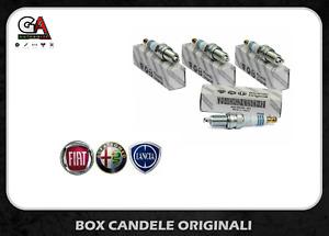 Candele Fiat Panda 1.2 500 Grande Punto originali 4 pezzi ZKR7A-10 NGK 55190788