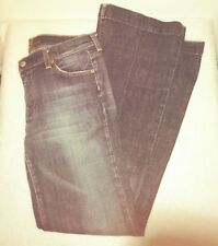 7 For All Mankind Dojo Wide Leg Flare Jeans  Dark Wash Size 11/12