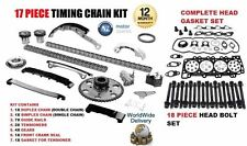 FOR NISSAN NAVARA D40 2.5 2006--> TIMING CHAIN KIT + HEAD GASKET SET & BOLTS