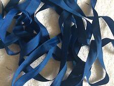 Vintage 20 yards Rayon Seam Binding Seco Queen De Luxe Empire Blue Sewing Trim