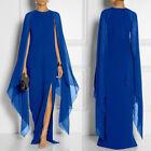 encaje manga larga Maxi Mujer Noche Formal Cóctel Vestido de fiesta vestido