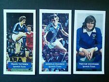 Grupo de 3 Ipswich Town puntuación tarjetas comerciales FÚTBOL UK Muhren Thyssen whymark
