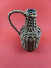 bouteille ancienne osier art-populaire deco  /vintage & antique french bottle