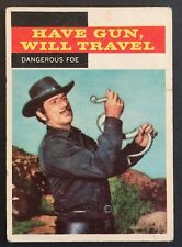 Vintage 1958 Topps TV WESTERNS card #27 DANGEROUS FOE- combined ship