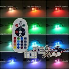 2x 12SMD Panel Interior Light Package Dome Map Kit Remote Controller LED Bulb AM