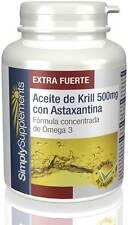 Aceite de Krill 500mg con Astaxantina Omega 3 colesterol 90 Cápsulas