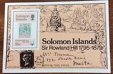 1979 Solomon Island sir Rowland hill mini sheet