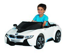 Ride On BMW Car w/ Adjustable Seat Belt 6V White Kids Toddler Fun Play Toy New