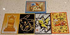 More details for pokemon centre japan rare pikachu card sleeves set of 5 💛