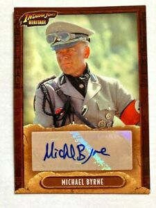 2008 INDIANA JONES TOPPS HERITAGE AUTOGRAPH CARD MICHAEL BYRNE VOGEL SIGNED !