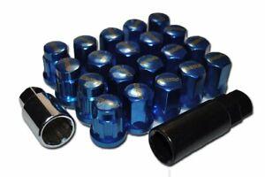 RAYS VOLK RACING 17 HEX 12X1.5 CLOSE END BLUE LOCK LUG NUTS ACORN RIMS WHEELS